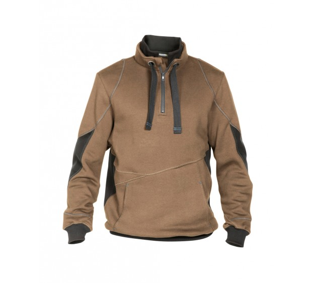 SWEAT BICOLORE STELLAR CAMEL/GRIS