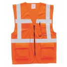 Gilet classe II multipoches Orange Fluo