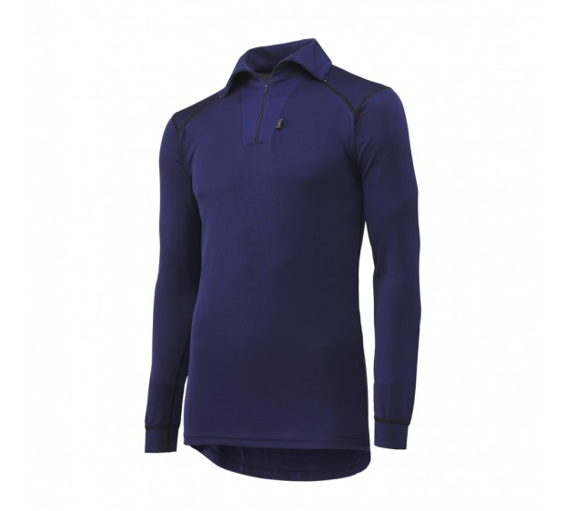 MAILLOT FROID MANCHES LONGUES COL ZIPPE MARINE