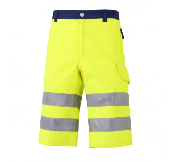 BERMUDA - SHORT DE TRAVAIL HV LUK LIGHT JAUNE/MARINE