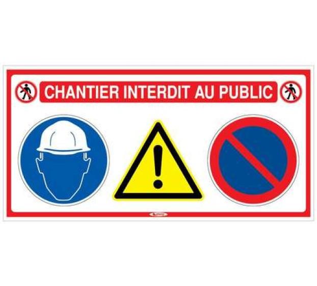 PANNEAU SIGNALISATION CHANTIER 4 EN 1