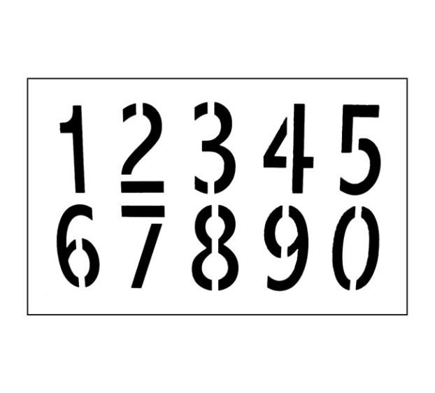 POCHOIR CHIFFRES 0-9 12x21CM