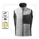 GILET DE TRAVAIL SANS MANCHE/BODYWARMER ADVANCED BLANC/ANTHRACITE T.4XL