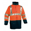 VESTE DE PLUIE PVC LAURENT ORANGE FLUO/MARINE