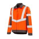 Blouson haute visibilité 3HVI Orange Fluo / Gris Acier