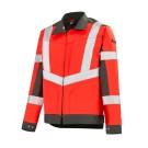 Blouson haute visibilité 3HVI Rouge Fluo / Gris Acier