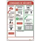 PANNEAU SIGNALISATION CONSIGNES DE SECURITE